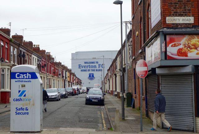 Close to Everton's ground.