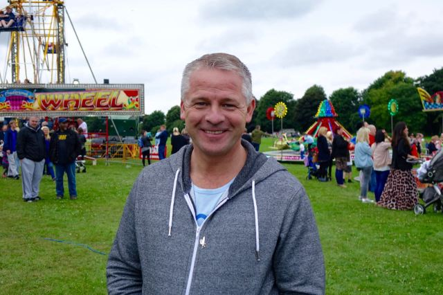 Here's Terry May, Coming Home board member and one of the main organisers of today.