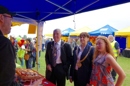 The Lord Mayor Roz Gladden is here, together with Councillor Roy Gladden and the Junior Mayor.