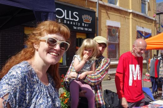 Friend and film maker Janet here with her family.
