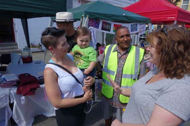 Ann is introduced to market organiser Joe Farrag's grandson Carter.