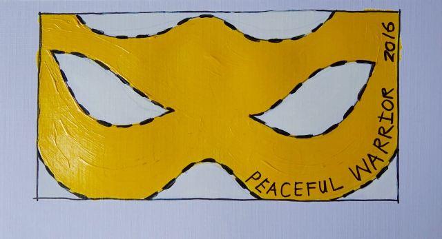 'Peaceful |Warrior' by Jayne Lawless.