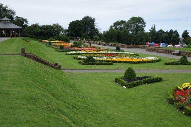But first a walk past the municipal flower beds.