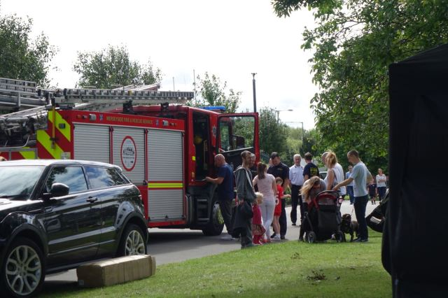 Lots to do. The ever popular 'having a sit in a fire engine'