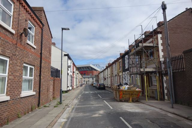 The football ground at the end of every street.