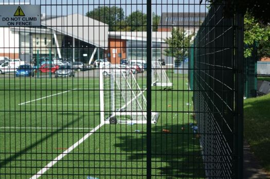 The only football goals now are on the all weather pitches by the Aquatics Centre.