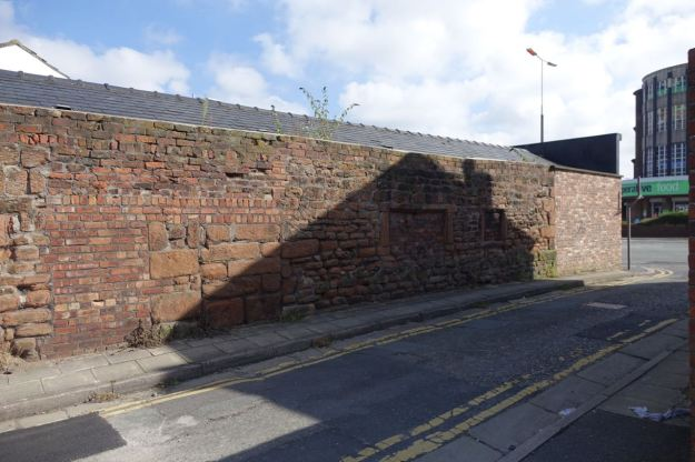 In Waterloo Road there's more ancient wall.