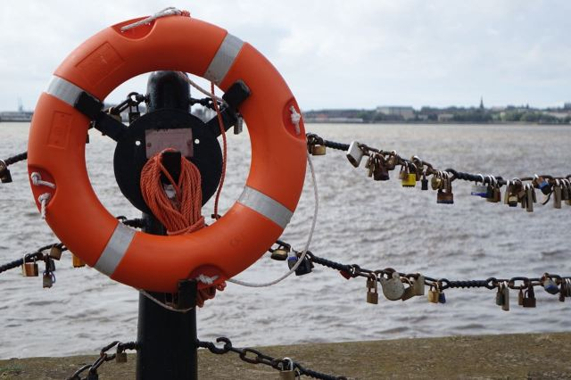 The sea chains have filled up with these love locks I notice.