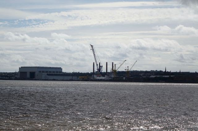 And yes, there's the river and the shipyard in Birkenhead.