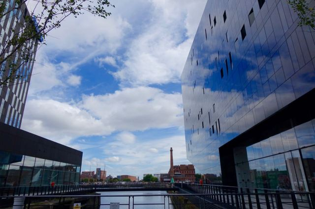 Good reflective sky photos. Only things these buildings are good for.