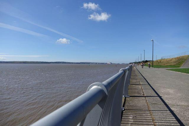 Our walk reaches the river.