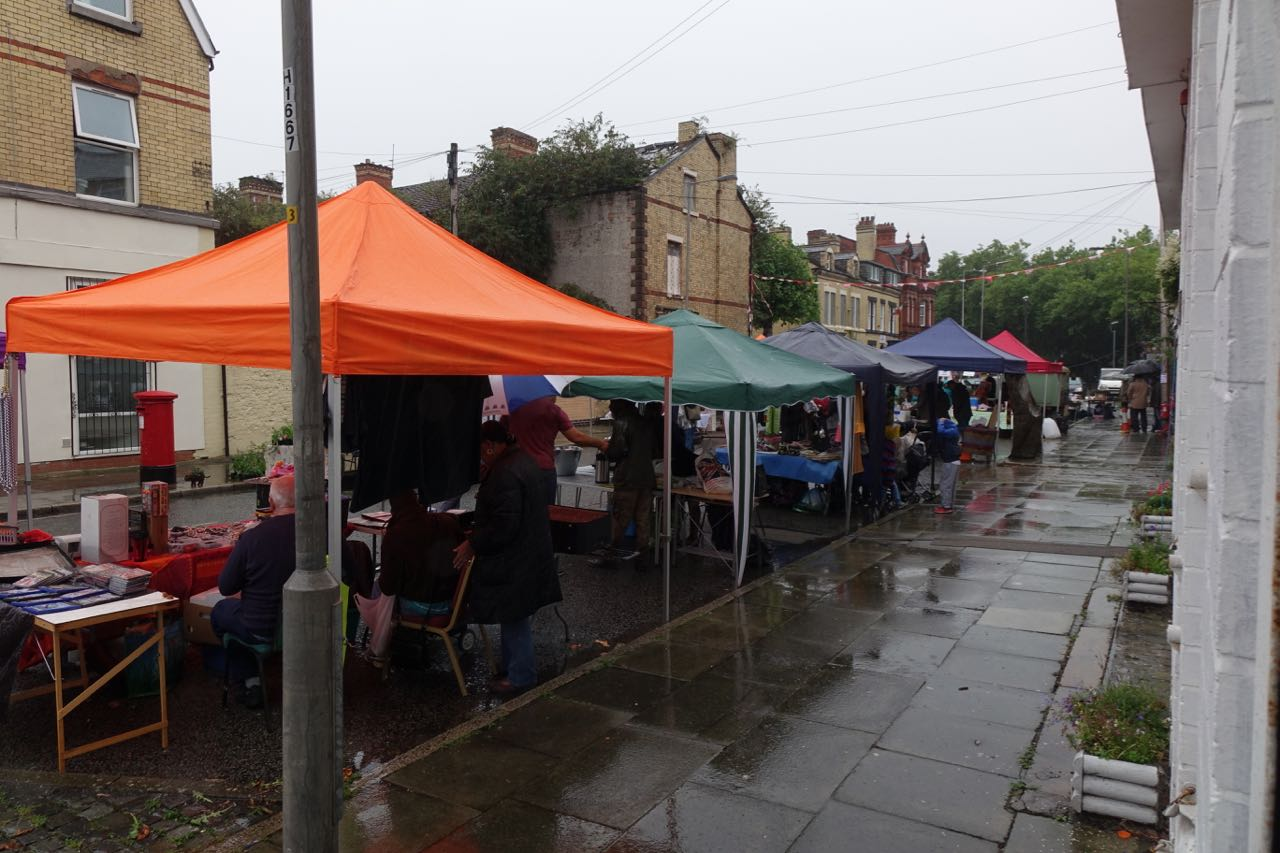 All the traders have turned up though and a good many customers.