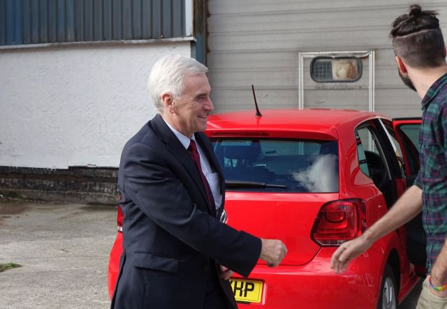 But actually he's in the car behind, welcomed here by Liam of Make Liverpool.