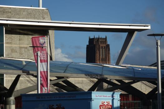 And over the top of Liverpool One.
