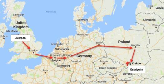 -Poland trip map