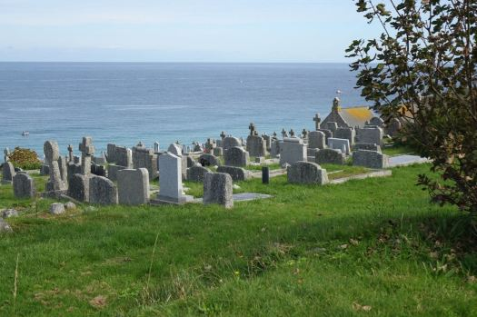 Where the dead can see the sea.
