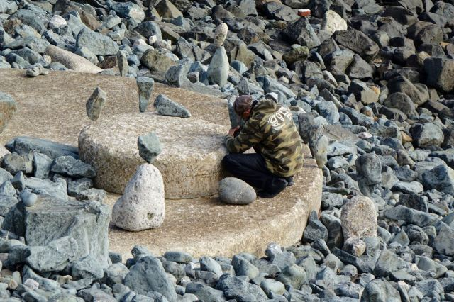Balancing rocks.