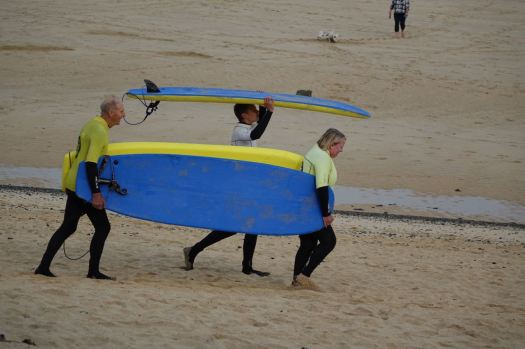 And Sarah got out for her surfing lesson yesterday.