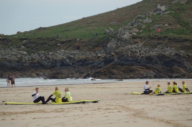 And liked the quality tuition from Joe at St Ives Surf School.