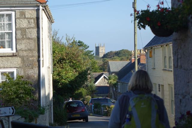 And here we are, off the bus and with St Uny's Church about a mile down the road.