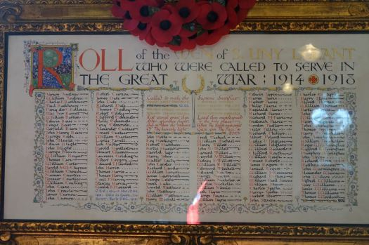 And a more recent memorial. Remembering those from here who died in the Great War, and also, nice touch, everyone else who served.