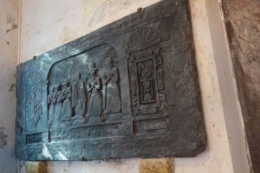 One of two slate memorials from the 17th century.
