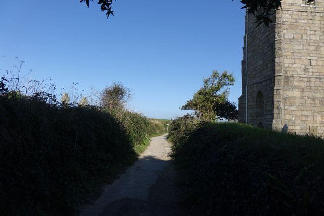 We set off along the Coastal Path.