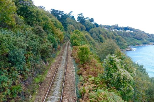 Soon after Carbis Bay the Coastal Path crosses to the other side of the railway.