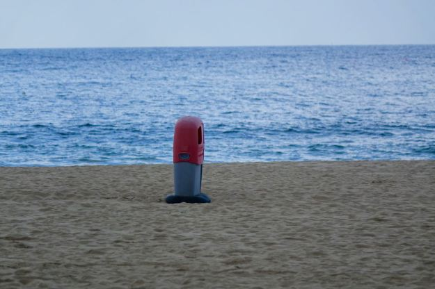 Eternity with a red bin.