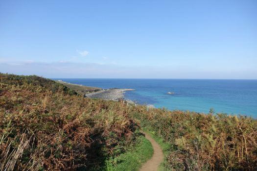 Along the Cornish Coastal path.