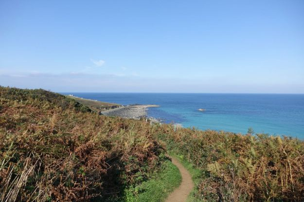 Along the Cornish Coastal path.