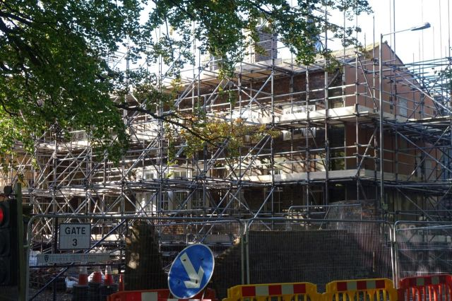 Eleanor Rathbone's house finally being worked on.
