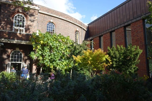 Been a long walk already so a sit in town's top breathing space, The Bluecoat Garden.