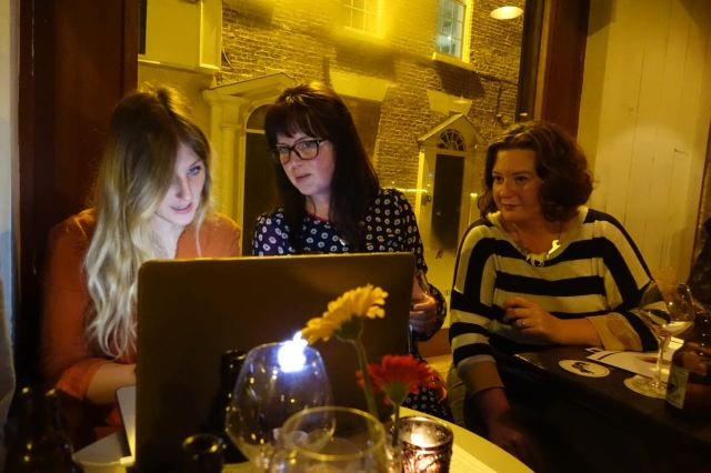 Hayley, Jayne and Fiona, designing Coming Home.