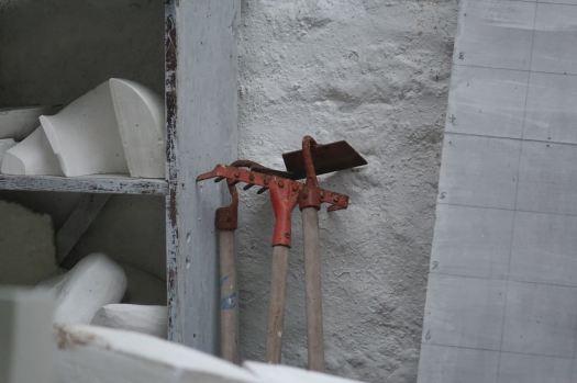 Her garden tools.
