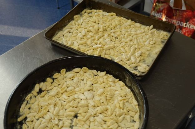 Pasta's all done now, ready to be cooked.