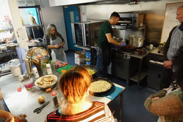 Pasta's nearly done, along with everything else.