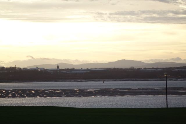 Looking across the Wirral to Wales.