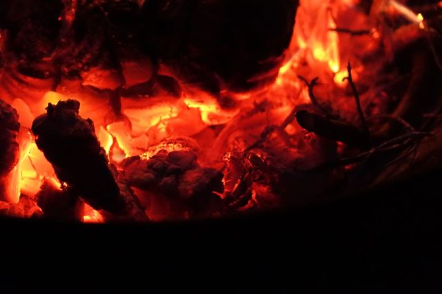 Then the flames turn to embers.