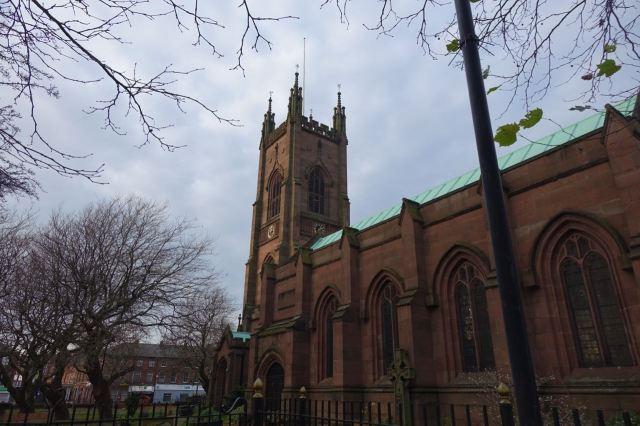 Past Walton Church.