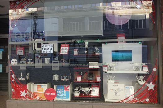 Where Maplin's looks like it's been doing a roaring trade in drones.