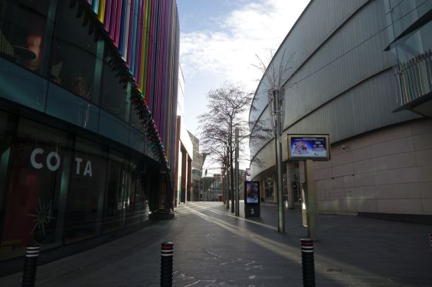 Into Liverpool One.