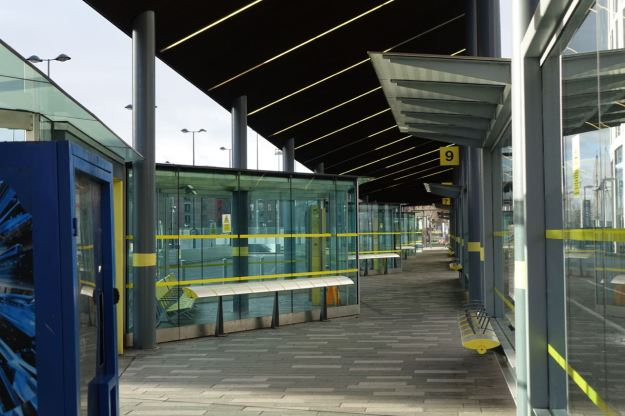 The silent bus station.