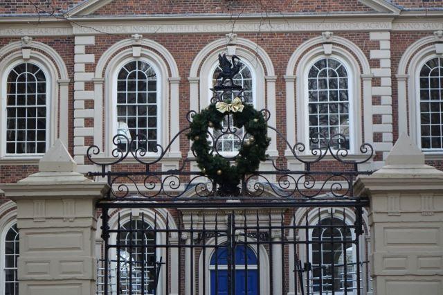 Rare sight of the gates closed at The Bluecoat.