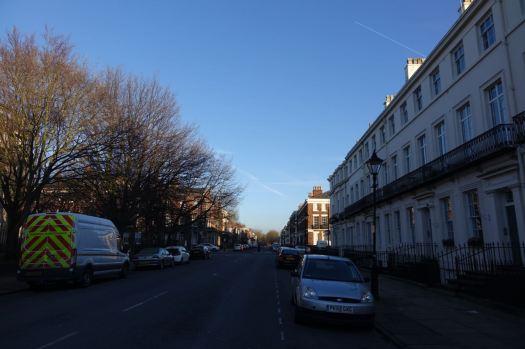 Along Percy Street.