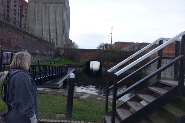 It's where the canal enters the Liverpool docks system.