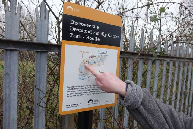 We saw the beginning of this trail last week at the Eldonian Village, where the canal now starts.