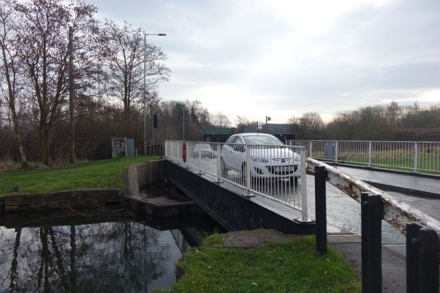 The swing bridge on the road from Fazakerley.