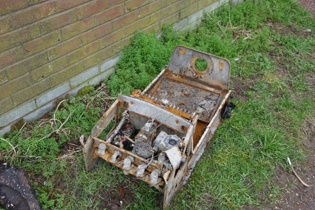 A fly tipped boiler.