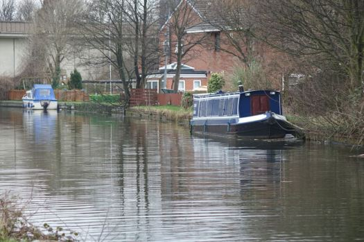 Then as Melling moves towards Maghull we see a first narrow boat, first leisure craft since we started our walk.